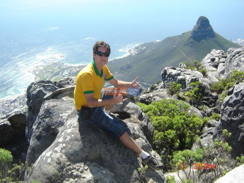 student - on top of table mountain i